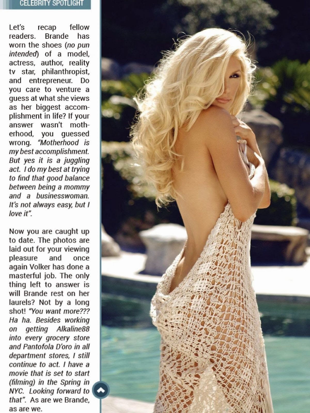 Magazine Photoshoot : Brande Roderick Photoshot For Kandy Magazine January 2014 Issue