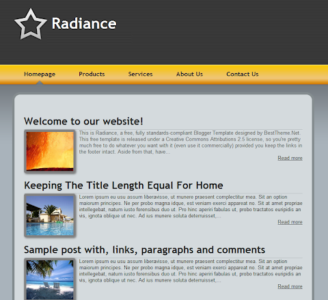 Radiance Blogger Theme