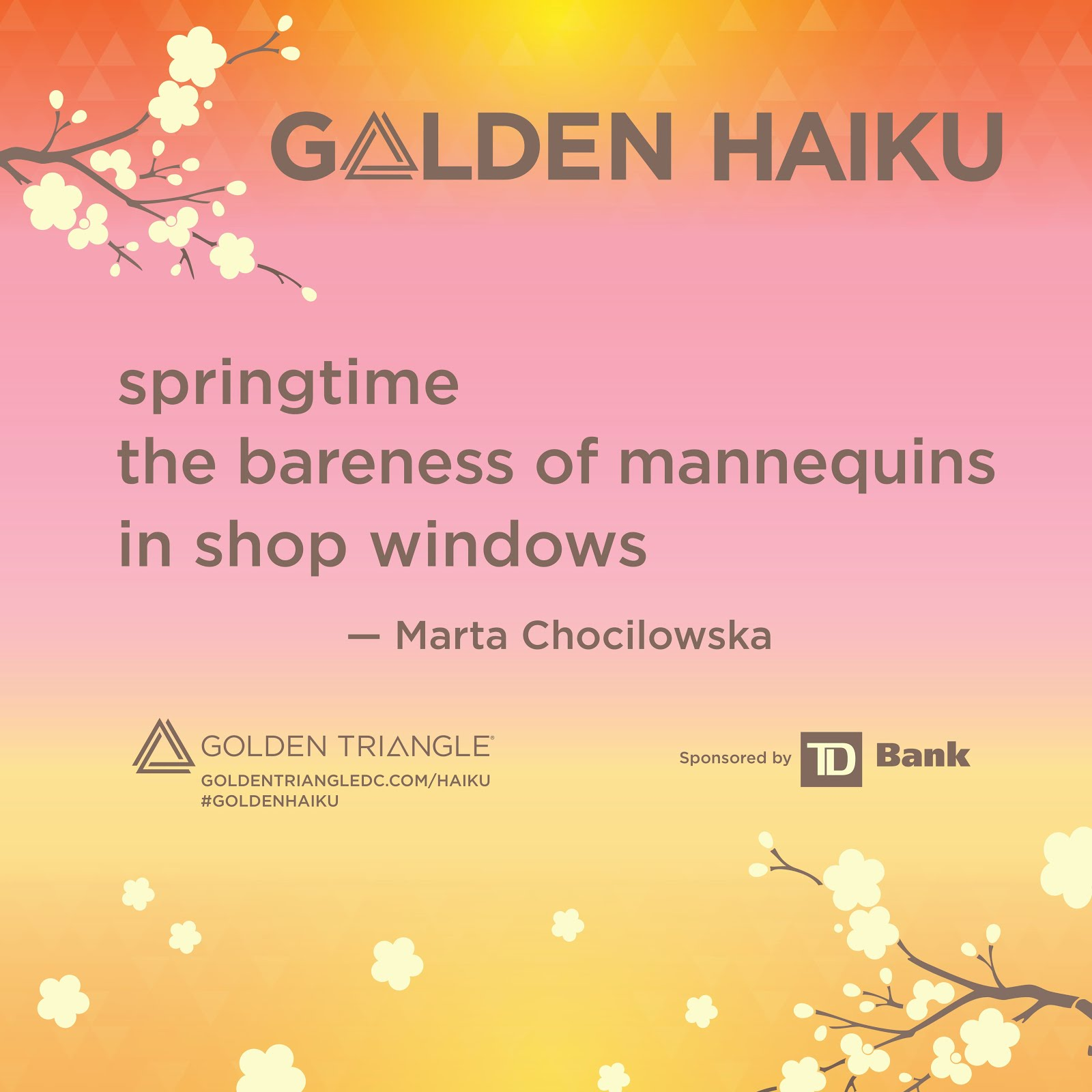 Golden Triangle Haiku Contest 2019.