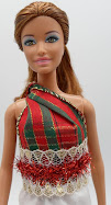 DIY Barbie Blog: top from ribbon, no-sew