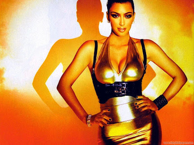 Model Kim Kardashian Full HD Wallpaper
