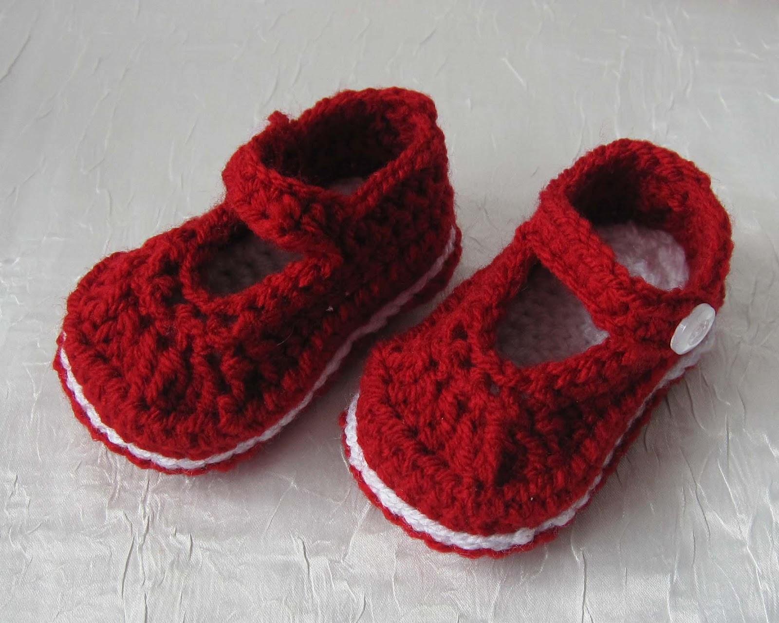 Kleines Fadenallerlei: Gehäkelte Babyschuhe - it´s spring time