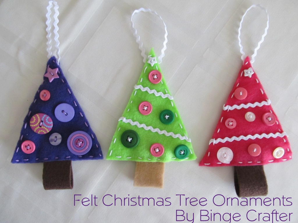 Christmas tree decorations to make with felt christmas for Christmas decoration ideas to make