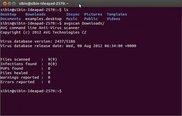 Scan virus on Ubuntu