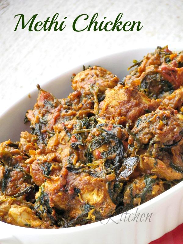 Saras's Kitchen: Methi Chicken Masala / Murgh Methi Masala