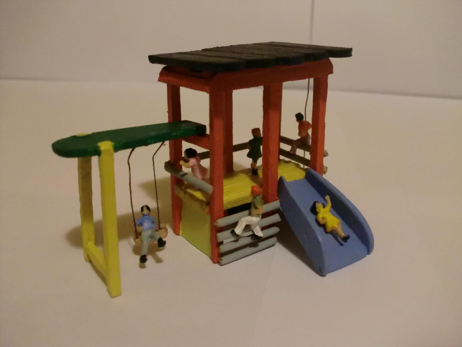 La maqueta de sponsh escala h0 v 4 0 parque infantil - Como hacer un parque infantil ...