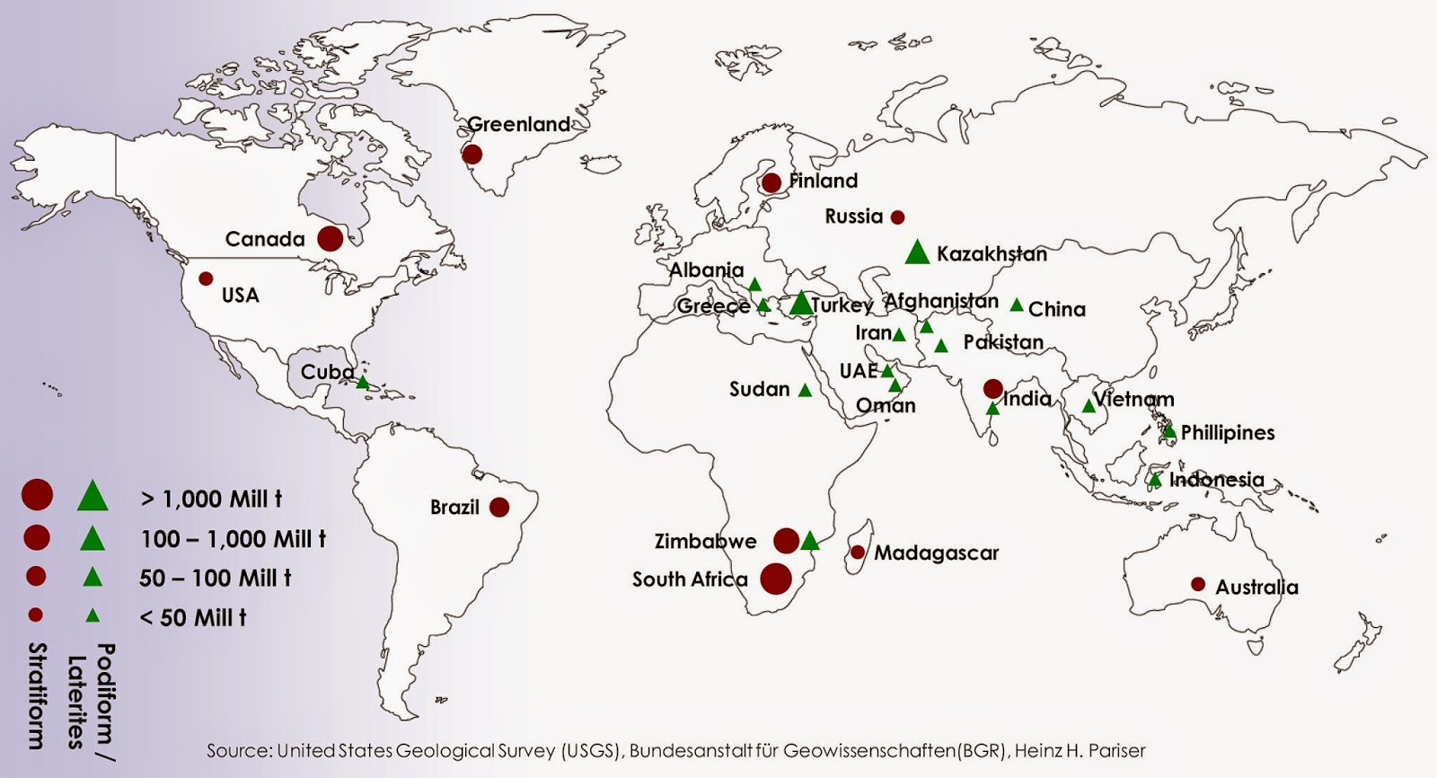 Global Chromite Resources Map