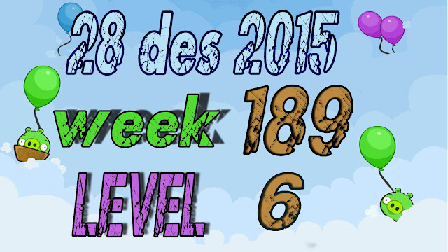 Angry Birds Friends Tournament level 6 Week 189