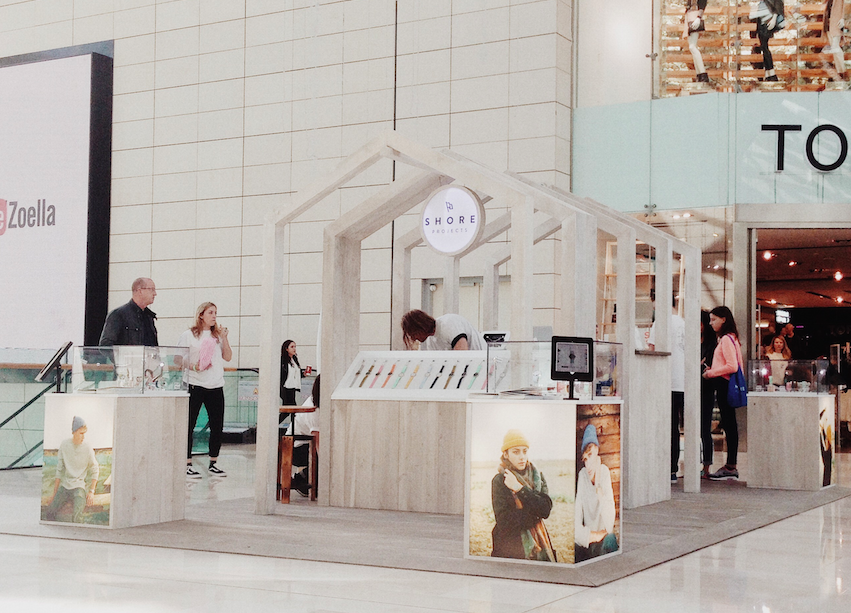shore projects, pop up, accessories, white city , westfield, london, british, brand, watches,