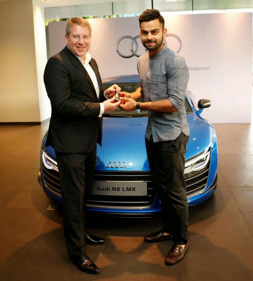 PHOTOS  Virat Kohli with his new limited edition Audi R8 LMXVirat Kohli With His Audi R8