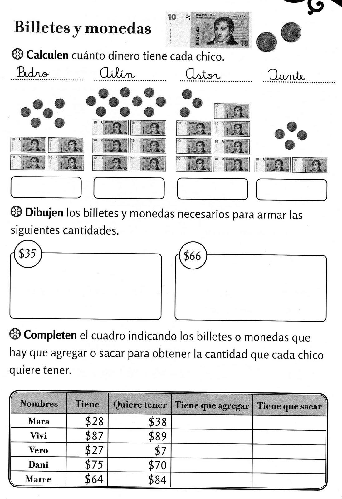 Actividades Para Ninos De Dinero