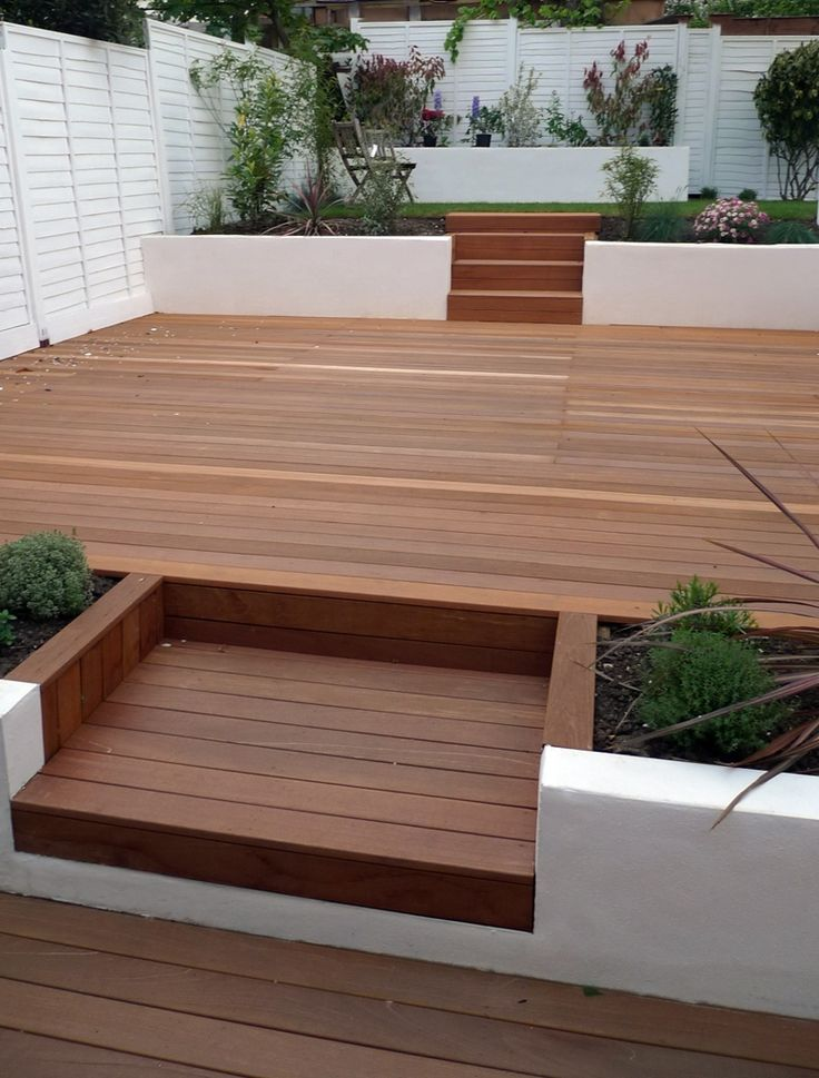 It 39 s time to sort out the back garden different decking for Contemporary garden design ideas