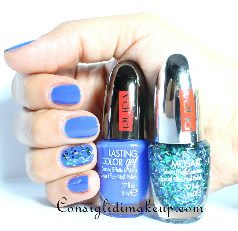 NOTD: Lasting Color Gel n.075 + Mosaic n. 006 - Pupa