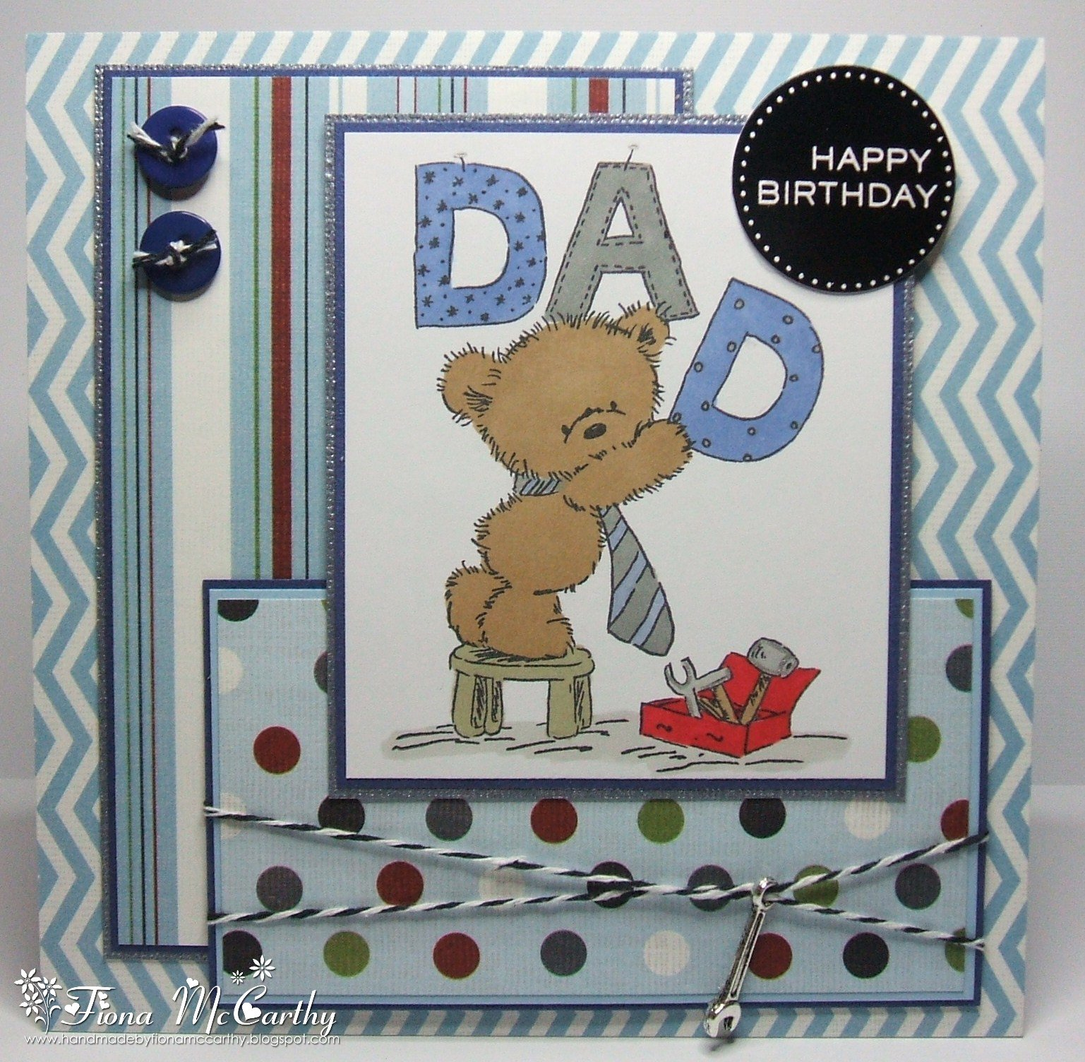 Handmade by fiona mccarthy my dads birthday card my dads birthday card bookmarktalkfo Gallery