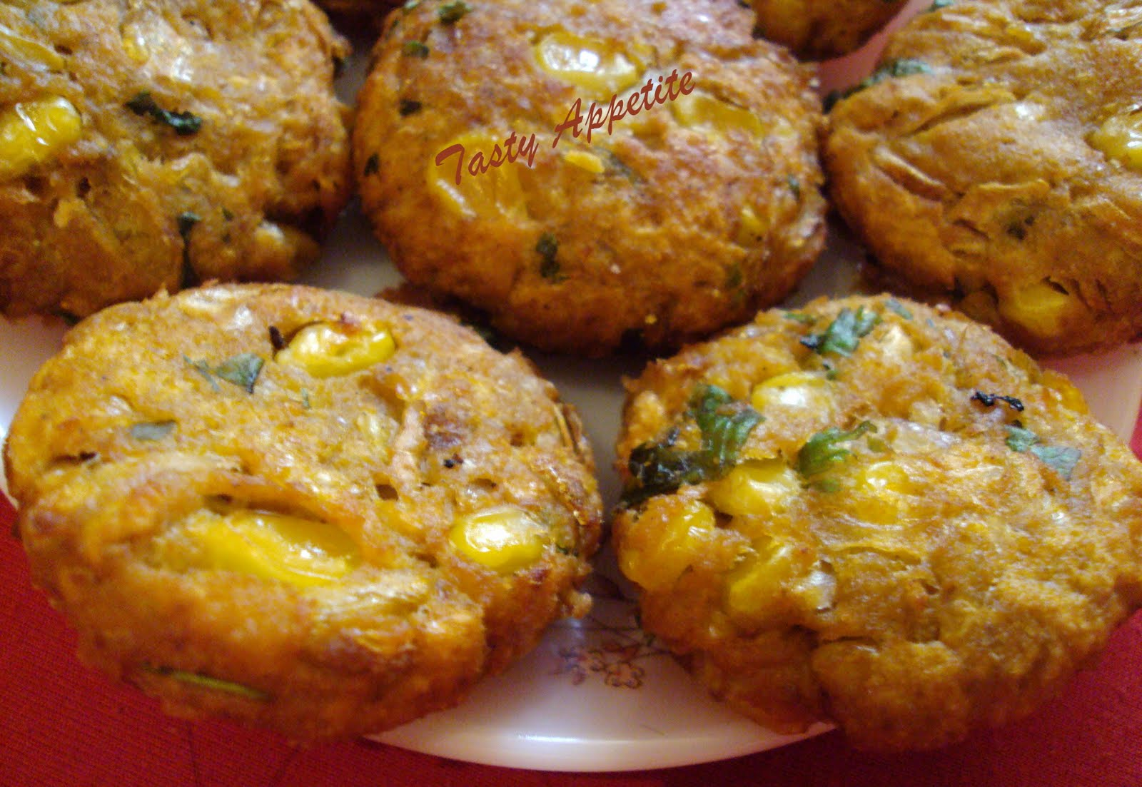 Crunchy Spicy Corn Fritters / Corn Appetizer   Tasty Appetite