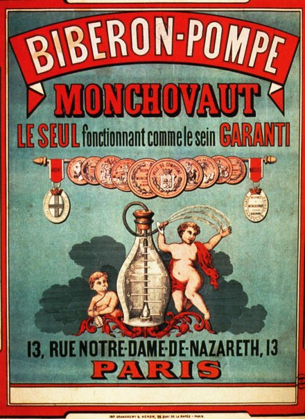 advertising, classic posters, free download, graphic design, retro prints, vintage, vintage posters, Biberon-Pompe Monchovaut - Vintage Advertising Poster