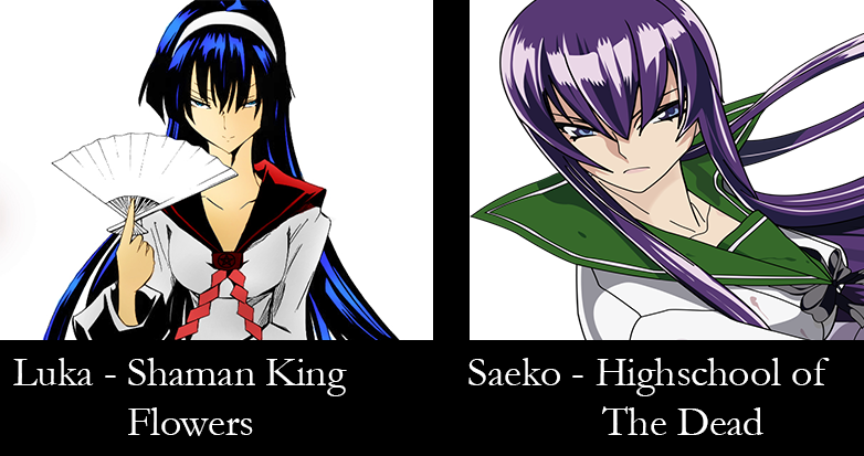 Similar characters - luka and saeko