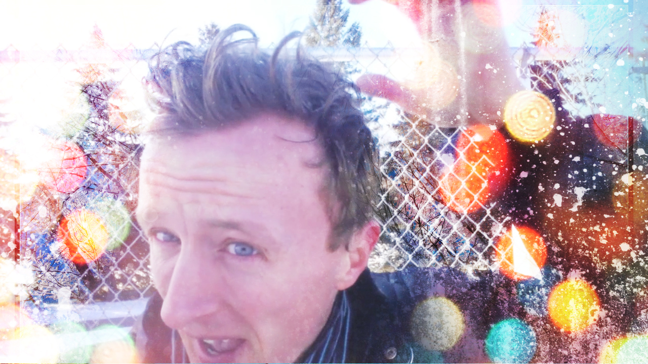 christmas collage with actor Paul Cram