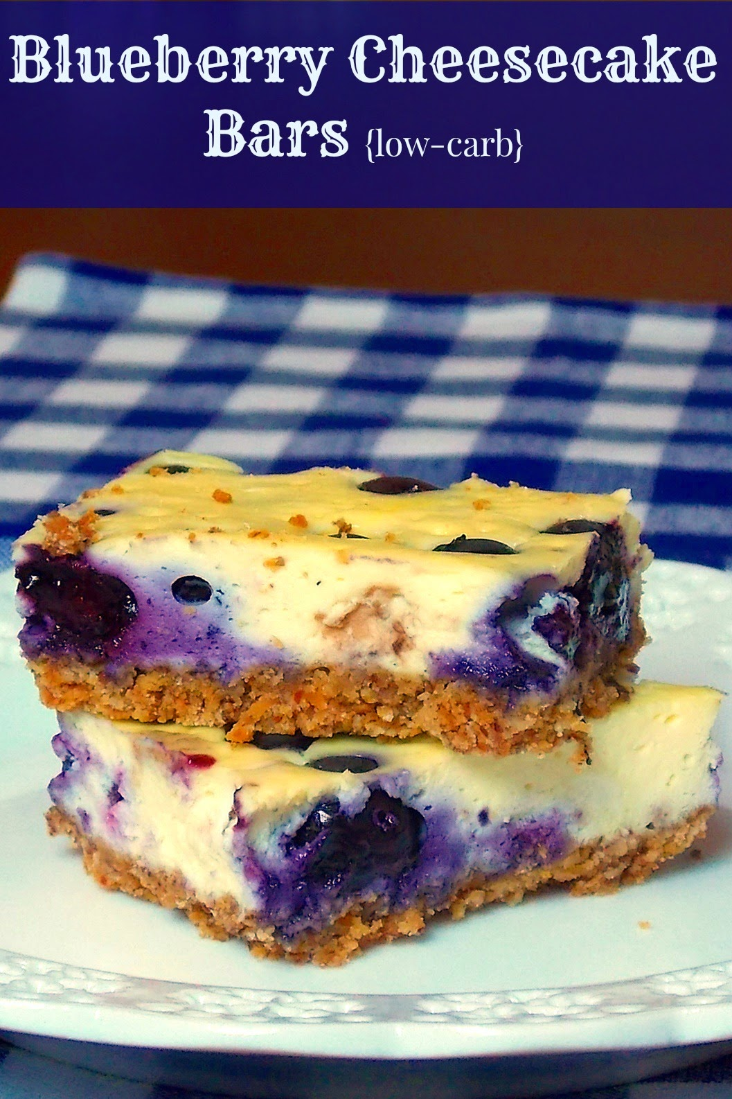 Blueberry Cheesecake Bars Recipe — Dishmaps