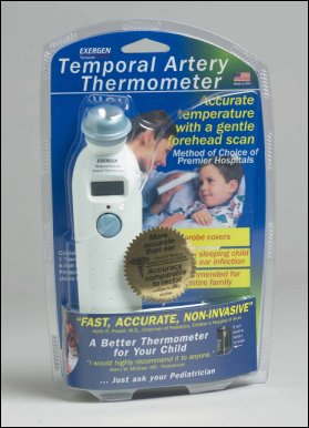 exergen temporal scanner infrared thermometer instructions
