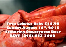 3rd Annual $25.99 Twin Lobsters & Smuttynose Beer