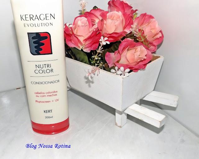 condicionador cabelos coloridos nutricolor keragen kert