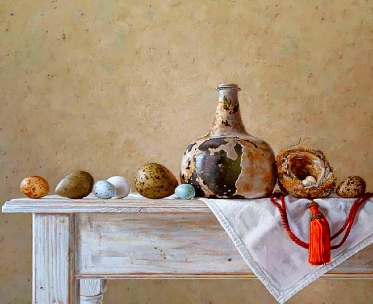 Cuadros modernos pinturas y dibujos bodegones de frutas - Fotos jarrones con flores ...