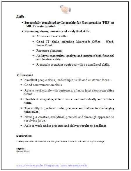 college resume template free word excel - Excel Skills Resume