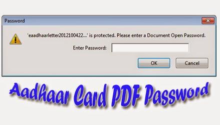 What is the Password to open Aadhaar Card PDF