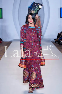 TRADITIONAL PRINTS BY LALA AT PAKISTAN FASHION WEEK LONDON 2012