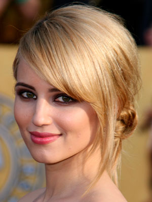 Dianna Agron opts for a long side fringe at the SAG Awards in LA on 30