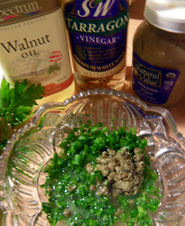 Walnut Oil, Tarragon Vinegar, Dijon Mustard and Mixed Herbs & Capers