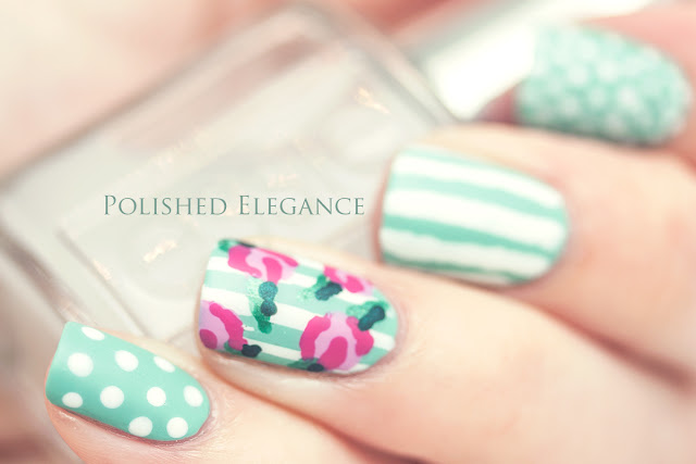 Rose manicure nails rose nail art flowers vintage nail art