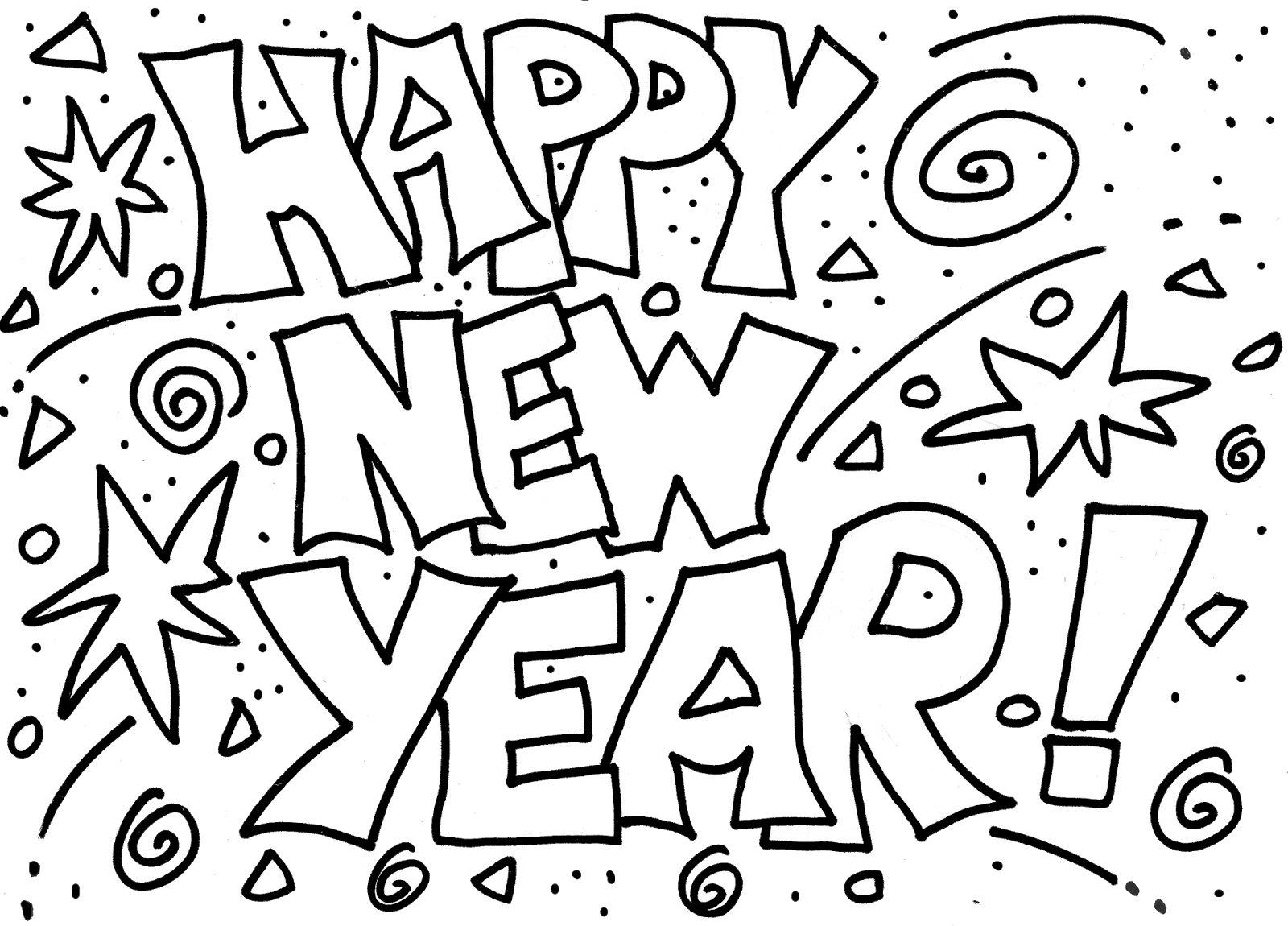 Witty image within printable new years coloring pages