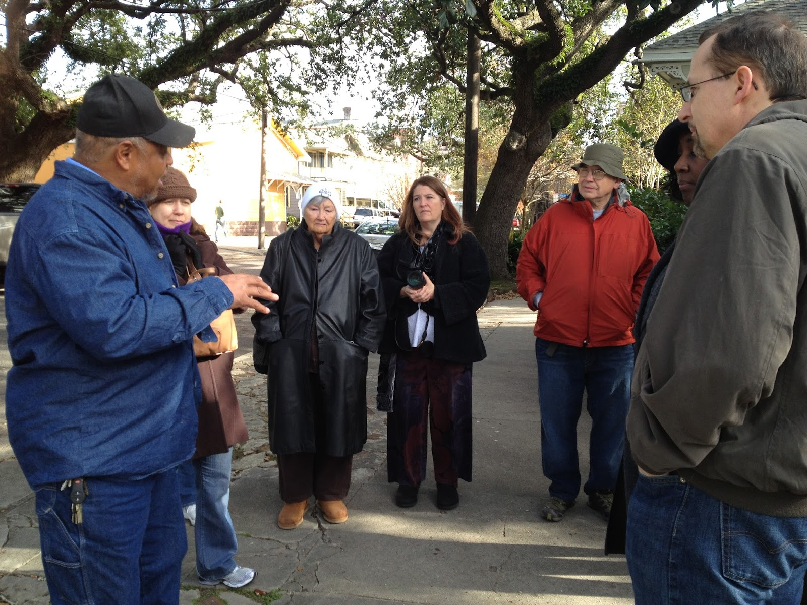 Treme Walking Tour Guide sharing history of area