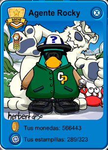 Club Penguin Agente Rocky