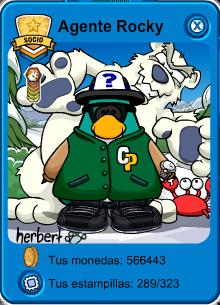 Club Penguin Agente Rocky