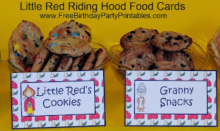 FREE Little Red Riding Hood Birthday Printables