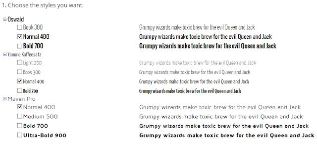 Google font Setting