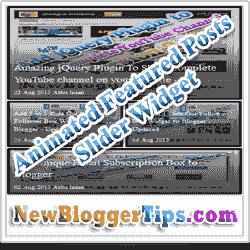 11) اضافة سلايدر متحرك للمشاركات الشائعة لمدونتك
