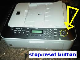 Canon Pixma MX328 Stop/Reset Button