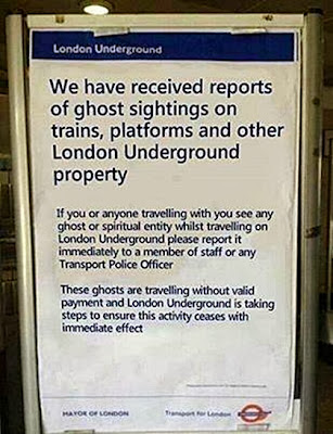 Warning of ghosts on London Transport