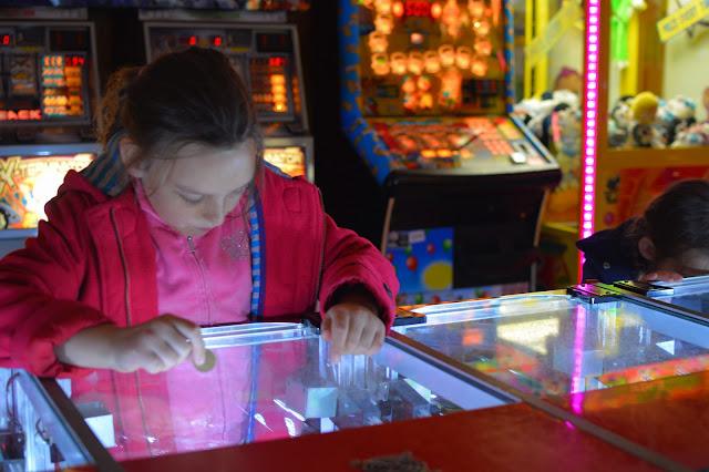 Girl in arcade