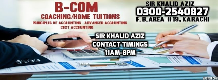 B.COM COACHING AND HOME TUITION
