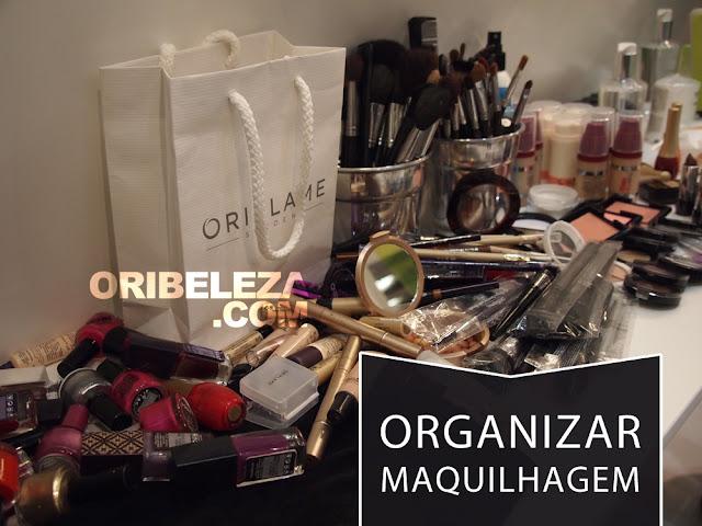 Organize os seus Produtos de Maquilhagem