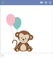 Monkey Facebook sticker
