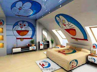Kamar Tidur Anak Motif Doraemon