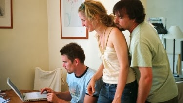 Ethan Hawke, Julie Delpy, Richard Linklater, Oscar-nominated screenwriters of BEFORE SUNSET and BEFORE MIDNIGHT