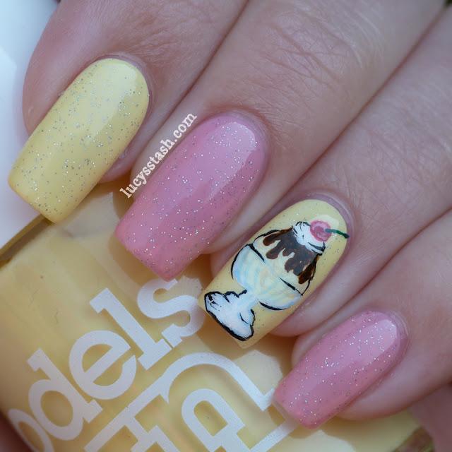 Ice Cream Nails: Ice Cream Sundae Nail Art Manicure With Tutorial! Part Of