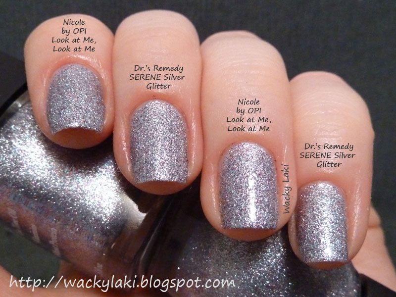 Wacky Laki: Comparison: Nicole by OPI Look at Me, Look at Me vs. Dr ...